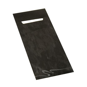 Bestecktaschen schwarz, 20 x 8,5 cm, inkl. weißer Serviette 33 x 33 cm 2-lag. - Bild 2