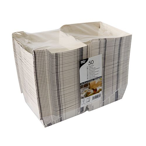 """Burger Boxen aus Pappe 12,5 x 12,5 cm """"Newsprint"""" groß - Bild 2"""