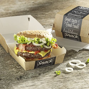 "Burger Boxen, Pappe ""pure"" 8 x 8 cm ""Good Food"" mini - Bild 2"