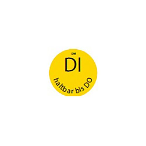 """HACCP Etiketten Ø 19 mm gelb """"Dissolve Mark"""" DI haltbar bis DO rund, völlig auflösbar - Bild 1"""