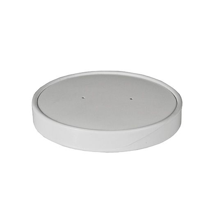 Deckel für Suppenbecher To Go, Pappe rund Ø 11,8 cm weiss - Bild 1