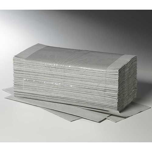 "Papierhandtücher 23 x 25 cm grau ""Plus L"" V-Falz, 1-lagig - Bild 1"
