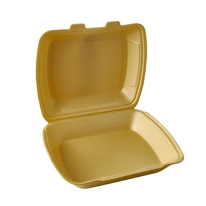 Menüboxen, XPS ungeteilt 7,5 cm x 24,3 cm x 20,8 cm gold - Bild 1