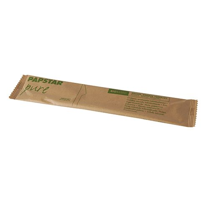 """Holzmesser """"pure"""" 16,5 cm natur einzeln verpackt in Papierbeutel - Bild 2"""