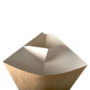 """Pommes-Spitztüten mit Dip-Ecke, Pappe """"pure"""", Füllinhalt 100 g, 19,5 x 16,5 cm braun/weiss  - Bild 4"""