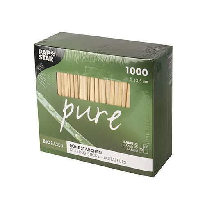 "Rührstäbchen aus Bambus ""pure"" 13,5 cm - Bild 2"