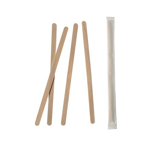 "Rührstäbchen, Holz ""pure"" 14 cm einzeln gehüllt - Bild 1"