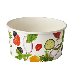 "Salatschalen To Go aus Pappe 1 l Ø 15 cm · 7,5 cm ""Salad"" - Bild 1"