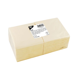 Servietten, creme 3-lagig 1/4-Falz 24 x 24 cm - Bild 1