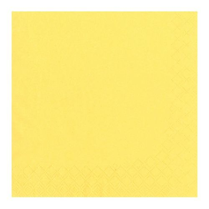 Servietten, gelb 3-lagig 1/4-Falz 24 x 24 cm - Bild 2