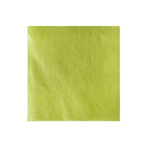 Servietten, limonengrün 3-lagig 1/4-Falz 24 x 24 cm - Bild 2