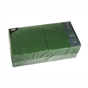Servietten, dunkelgrün 3-lagig 1/4-Falz 33 x 33 cm - Bild 1