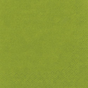 Servietten, olivgrün 3-lagig 1/4-Falz 33 x 33 cm - Bild 2