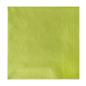Servietten, limonengrün 3-lagig 1/4-Falz 40 x 40 cm - Bild 2