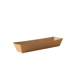 """Snacktrays aus Pappe """"pure"""" 5,5 x 20 cm braun - Bild 1"""