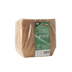 """Snacktrays aus Pappe """"pure"""" 9 x 13,5 cm braun - Bild 2"""