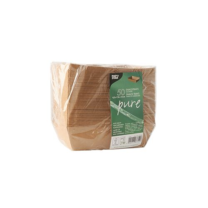 """Snacktrays aus Pappe """"pure"""" 10 x 15 cm braun - Bild 2"""