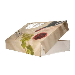 """Catering-Kartons 8 x 46 x 31 cm """"Burgund"""" mit Sichtfenster, einteilig - Bild 2"""