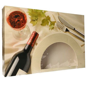 """Catering-Kartons 8 x 55 x 37,5 cm """"Burgund"""" mit Sichtfenster, zweiteilig - Bild 1"""