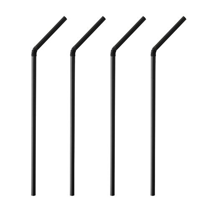 "Trinkhalme PLA, flexibel ""pure"" Ø 5 mm · 24 cm schwarz - Bild 1"