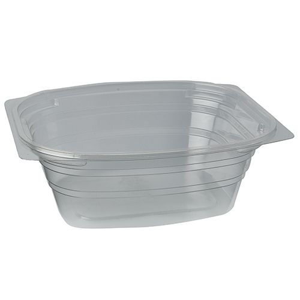 """Verpackungsbecher, PLA """"pure"""" eckig 700 ml transparent - Bild 1"""